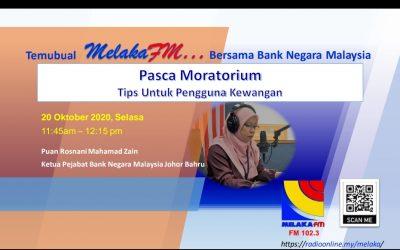 Temubual radio Melaka FM, 20 Oktober 2020